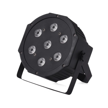 Bühnenlicht LED PAR Licht 7 LEDs 4 in 1 RGBW DMX512 8/5 Kanäle mit Fernbedienung für KTV Club Bar Party DJ Show Bands