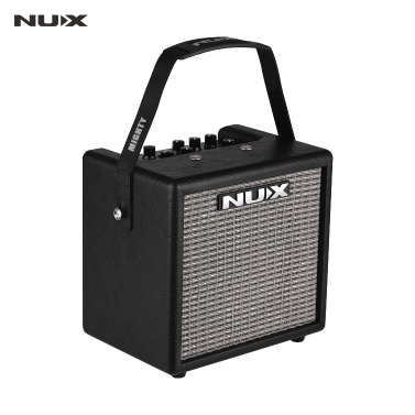 NUX Mighty 8 BT Portable 8 Watt Electric Guitar Amplifier Cube-shape Amplifier Built-in 6.5 Inch Speaker with Guitar Input Microphone Input BT Connection 3 Effects (MOD/ DELAY/ REVERB)