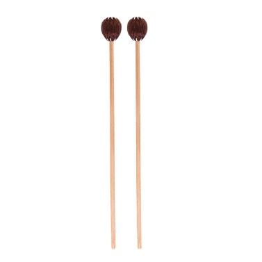 1 Paar Marimba Mallets Medium Hard mit Garnkopf Buchenholzgriff