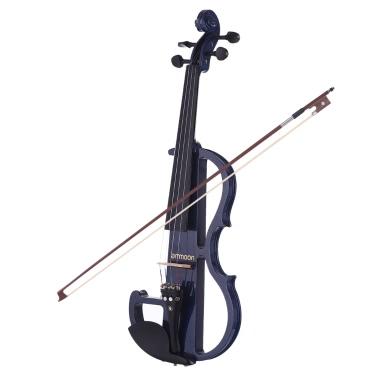 Ammoon Full Size 4/4 Massivholz Elektrische Silent Violin