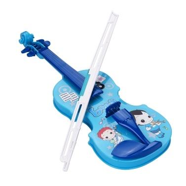 Crianças pouco violino com violino arco divertido instrumentos musicais educativos brinquedo violino eletrônico