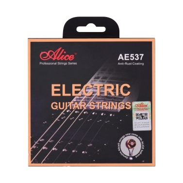 Alice AE537-L Electric Guitar Strings Hexagonal Core Bronze Iron Alloy Winding String Set for 22-24 Frets Electric Guitars