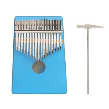 ammoon 17 Keys C-Tune Thumb Piano Kalimba Portable Solid Wood Finger Piano
