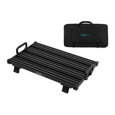 Portable Guitar Effect Pedal Board Pedalboard Aluminum Alloy Carry Bag, M Size