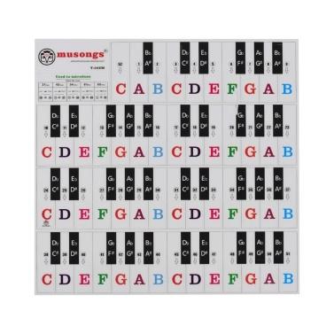 I6083-30Z Piano Keyboard Stickers