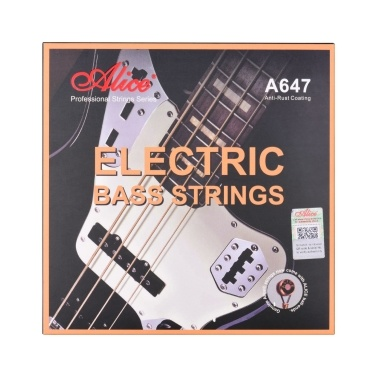 Alice A647(4)-M Electric Bass Strings Hexagonal Core Bronze Iron Alloy Winding Strings for 4-String 22-24 Frets Electric Bass