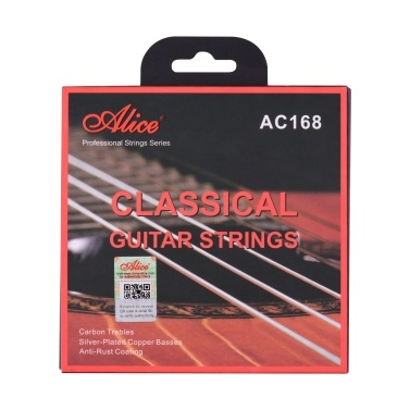 Alice AC168-H  Classical Guitar Strings Crystal Nylon Core Carbon Strings Professional Musical Instrument String Set for Classical Guitars from for 34 to 39 Inch