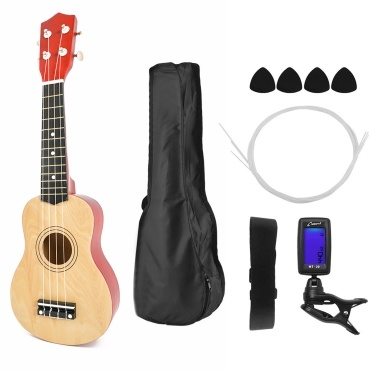 21 inch Kids Wooden UKulele 4-String Portable Guitar Instrument