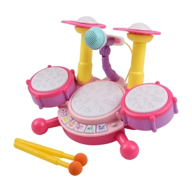 Muslady Kids Drum Set Toy Electronic Drum