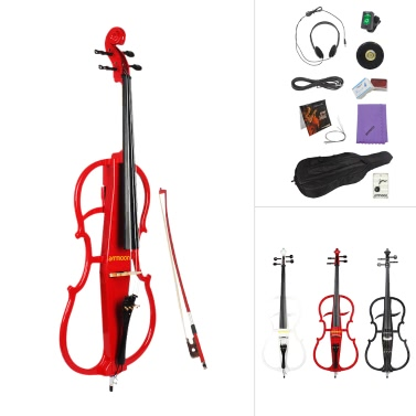 Ammoon 4/4 Full Size Massivholz Elektrisches Cello