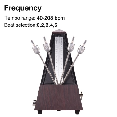 ammoon Universal Pyramid Mechanical Metronome ABS Material for Guitar Violin Piano Bass Musical Instrument Practice Tool for Beginners