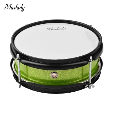 Muslady 8inch Snare Drum Head mit Drumsticks Shoulder Strap Drum Key für Student Band