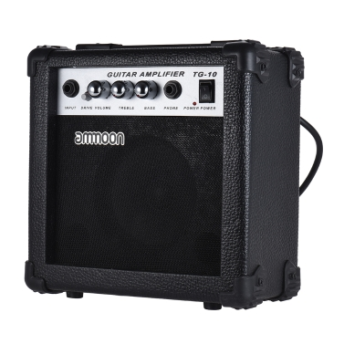 ammoon Portable 10 Watt Guitar Amp Amplifier 5 Inch Speaker Acoustic/ Electric Guitar Ukulele High-Sensitivity Volume Tone Control Treble/Bass Adjustment