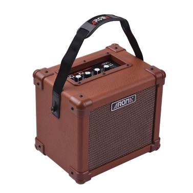 AROMA AG-10A Portable Acoustic Guitar Amplifier Amp Speaker 10W Microphone Interface Audio Input