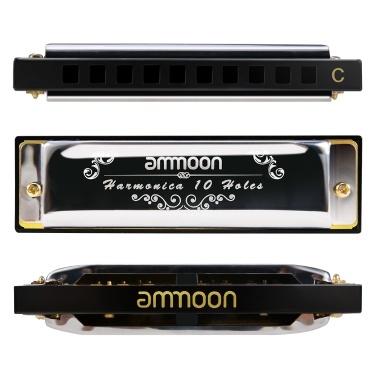 ammoon 10 Holes 20 Tones Blues Harmonica