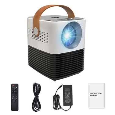 Salange Mini Projector Home High Definition Wireless Projector Office Teaching Video Projector Home Cinema