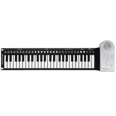 49 Keys Roll Up Piano Soft Piano Flexible Silicone Foldable Electronic Keyboard Piano for Children Student Musical Instrument