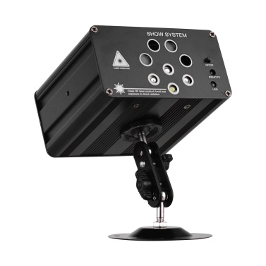 Muslady Stage Aurora Strobe Light 128 Combinations 8 Holes RGBW Sound Activated