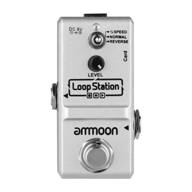 ammoon Loop Station Mini Guitar Looper Effect Pedal