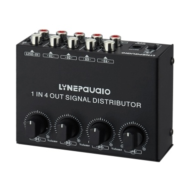 1-in-4-out Stereo Audio Amplifier Amp
