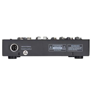 Portable 4-Channel Mic Line Audio Mixer
