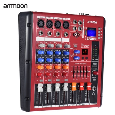 ammoon Digital Bluetooth 4-Channel Mic Line Audio Mixer,free shipping $75.99(Code:MICDJ)