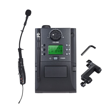 Portable UHF Instrument Wireless Microphone System Receiver & Transmitter 32 Channels Violin