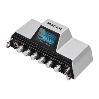 MOOER Little Tank D15 Modeling Mini Guitar Amplifier Head 25 Amp Models 20 Cabinet Models Modulation Delay Reverb Effects Built-in Guitar Tuner