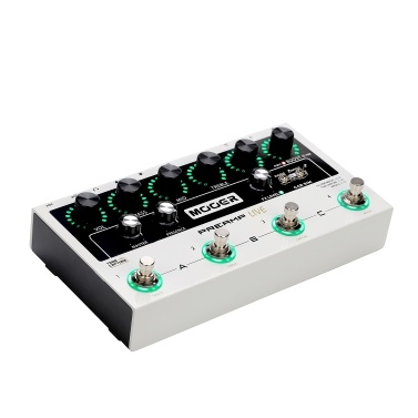 MOOER PREAMP LIVE Professional Digital Preamp Pedal Preamplifier12 Channels Pre & Post Booster 3-Band EQ Speaker Cabinet Simulation with MIDI IN/OUT XLR Output