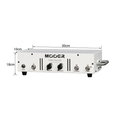 MOOER TUBE ENGINE 20W Tube Power Amp Amplifier Hi/Low Gain Input Metal Shell with Carry Handle Rack Mounting Lugs3-Band EQ Speaker Cabinet Simulation with MIDI IN/OUT XLR Output