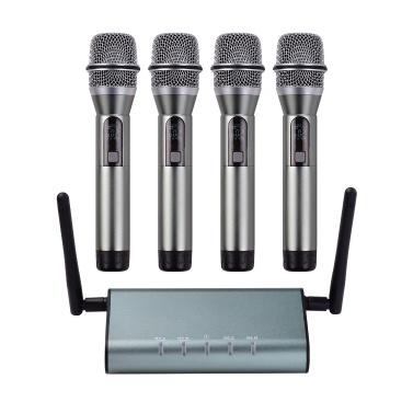 Muslady F4800 Professional 4 Channel UHF Wireless Microphone System