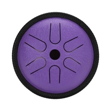 5,5 Zoll Mini Steel Zungentrommel 6 Notizen Handpan Drum Steel Pocket Drum Percussion Instrument