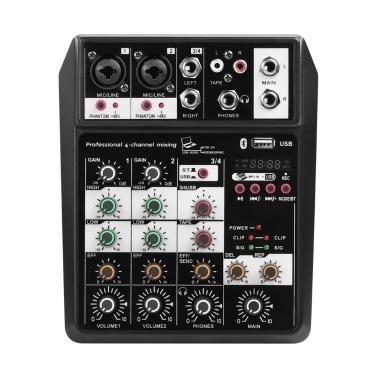 4-Kanal kleiner BT-Mixer mit Reverb-Effekt
