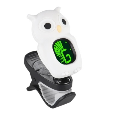 Cute Cartoon Owl Clip-On Tuner LCD Display for Guitar Chromatic Bass Ukulele Violin