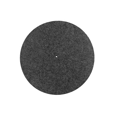 11.8 Inch Turntable Platter Wool Mat Audiophile Pad Anti-Static Anti-Vibration Compatible with LP Players