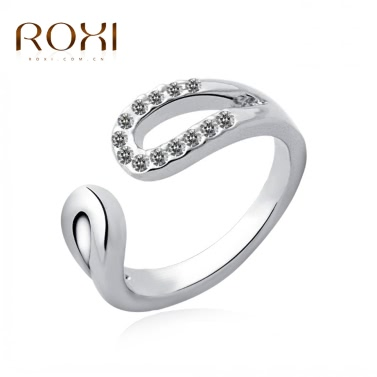Buy ROXI Classic Elegant Austrian Crystal Opening Ring White Gold Plated Wedding Engagement Jewelry Accessory Women Bride