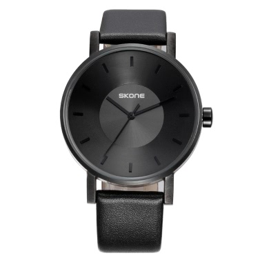 SKONE Fashion Luxury Quartz Couple Watches Water-Proof PU Leather Lovers Watch Men Women Casual Wristwatch