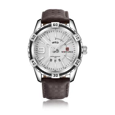 NAVIFORCE Mode Kausalen Männer Uhren Quarz Männlichen Uhr 3ATM wasserdicht Leucht Armbanduhr Kalender Zeitanzeige