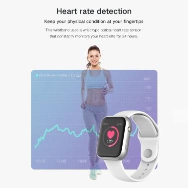 SX16 Smart Armbanduhr 1,3 Zoll Bildschirm BT4.0 wasserdicht Schrittzähler Kalorien Wecker Herzfrequenz Blutdruck Blutsauerstoffsättigung Sport Smart Watch für Android 5.0 / iOS 8.0 und höher