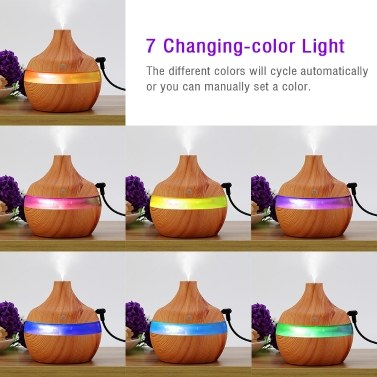 300ml Aroma Diffuser USB Air Humidifier Creative Water Type Wood Mini Mute Essential Oil Aromatherapy Machine for Home Office