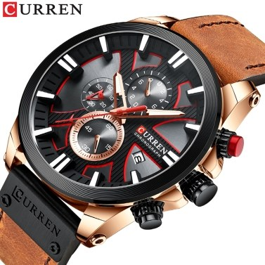 CURREN 8346 Luxus Business Quarzwerk Herrenuhr