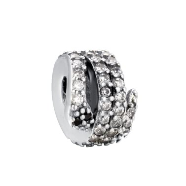 Romacci Charm Snowflake S925 Sterling Silver Diamond Bead for 3mm DIY Bracelet