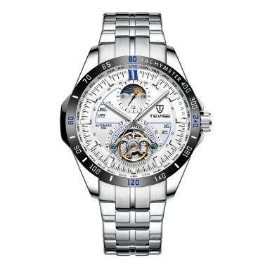 TEVISE Men Multifunktionale Automatische Mechanische Uhr Mode Wasserdichte Big Dial Armbanduhr