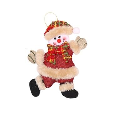 Weihnachtsverzierungs-Schneemann-Stoff-Puppe