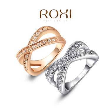 Roxi Fashion Vintage Hot Sale Women Jewelry Zircon Gold Plated Ring for Wedding Engagement Gift