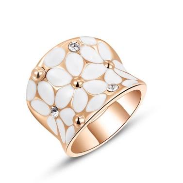 Buy Roxi Fashion Enamel Flower Zircon Crystal Rhinestone Women's Gold Plated Ring