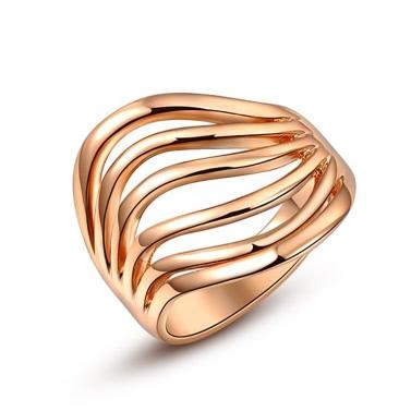 Roxi neue heiße Art und Weise einzigartige Gold überzogenes klassischer Ring-Schmucksachen für Frauen-Hochzeit-Verpflichtungs-Geschenk-Mädchen-Partei