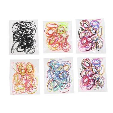 300Pcs Schönheits-Zusätze Buntes Gummi Hairband Seil-Pferdeschwanz-Halter-elastische Frauen-Haar-Band-Krawatten