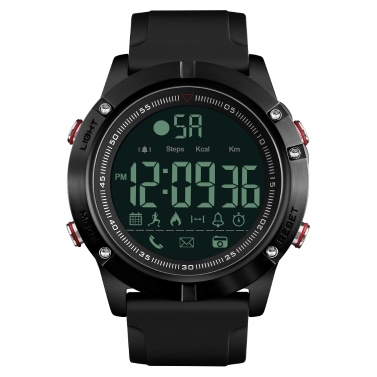 SKMEI 1425 Smart Watch Analog Digital Pedometer Calorie Fitness Tracker Watch Fashion Casual Sports Wristwatch 3ATM Waterproof Backlight BT Multifunctional Men Watches for Android and iOS