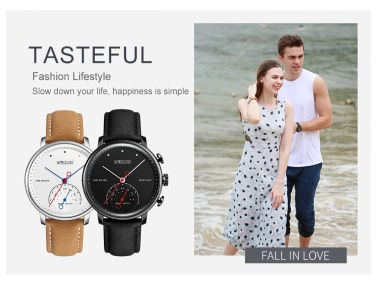 BOZLUN Fashion BT4.0 Smart Watch for IOS & Android 3ATM Water-Proof Genuine Leather Men Women Casual Wristwatch Fitness Tracker Pedometer Call Remind